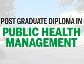 Pg diploma in public health management
