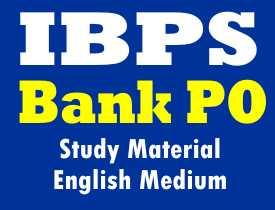 IBPS Bank Po Study Material English Medium